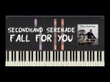 Secondhand Serenade - Fall for You - Piano Tutorial by Amadeus (Synthesia)