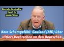 Kein Schamgefühl Alexander Gauland AfD über Hitlers Verbrechen an den Deutschen