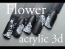 Flower acrylic 3D Nail Art Tutorial by Pablo Rozz