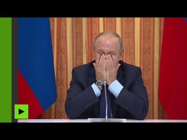 Poutine hilare en réalisant que son ministre de l'Agriculture est à l'ouest en géographie