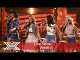 4 Of Diamonds sparkle with Wilson Phillips Hold On Live Shows Week 5 The X Factor UK 2016