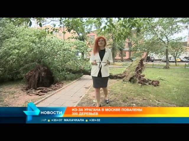 В разрушенном ураганом подмосковном поселке ветром сдуло купола с церкви