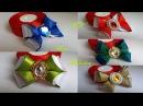 Бантики из разных видов лент. Канзаши./ Bows from different types of ribbons. Kanzashi.
