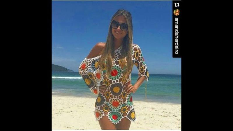 Saída de praia motivos coloridos 4 parte Viviane Santos