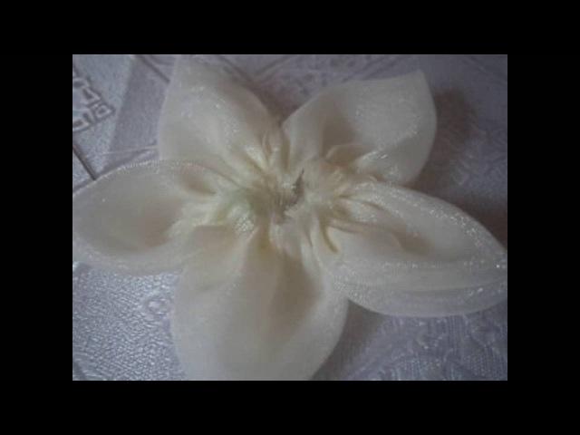 Мастер класс цветок из тюли
