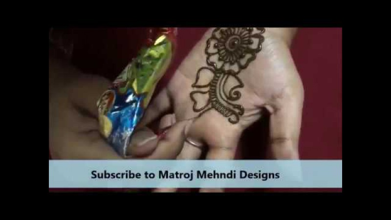 Mehndi Design Step by Step Tutorial