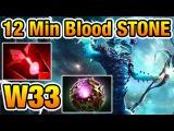 Leshrac 12 Minutes Blood Stone - #W33 Dota2 7.02