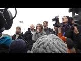 Выступление Ксении Собчак на митинге