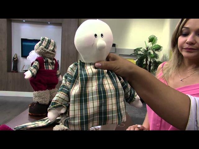 Mulher.com 07/11/2014 - Boneco Papai Noel por Silvia Torres Parte 2