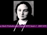 Maria Yudina plays Bach Preludes and Fugues Well Tempered Clavier WTC 2 BWV 875 (1953-57)