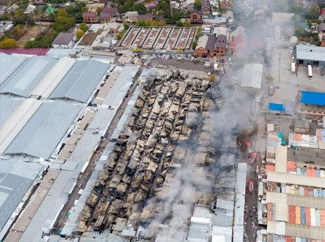 В Ростове установлены подозреваемые в пожаре на рынке «Темерник»