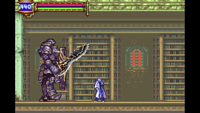Castlevania_ Aria of Sorrow Boss_ Great Armor (No Damage, No Subweapons)