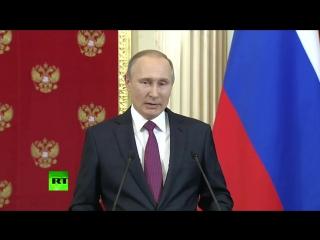 Владимир Путин прокомментировал мотивы заказчиков «компромата» на избранного президента США Дональда Трампа