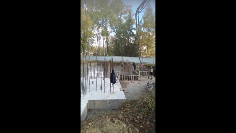 Заливка фундамента под храм 2017 ст. Троицкая
