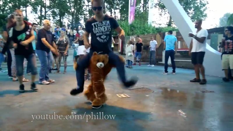 Teddy Bear carry me costume dance video