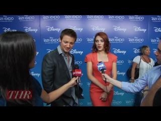 Scarlett Johansson and Jeremy Renner_ The Avengers