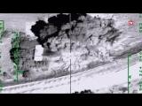 #ВКС РФ стерли с лица земли командный пункт игил кадры с воздуха