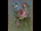 Rose and Butterfly David Jansen Розы и бабочка