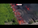 Пожар на заброшенном элеваторе в Заводском районе Саратова