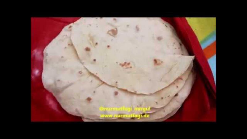 Yumuşacık Lavaş Ekmeği tarifi- dürüm ekmeği - Saçta lavaş yufka nasıl yapılır Nurmutfagi NurGüL