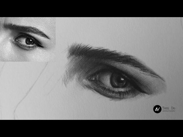 Рисуем глаз в реальном времени. Штриховка в портрете.