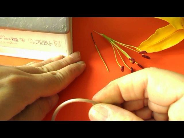 Тычинка. Как быстро и легко сделать Тычинки из зефирного фоамирана Ч.2