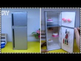DIY How to Make a Doll Refrigerator H