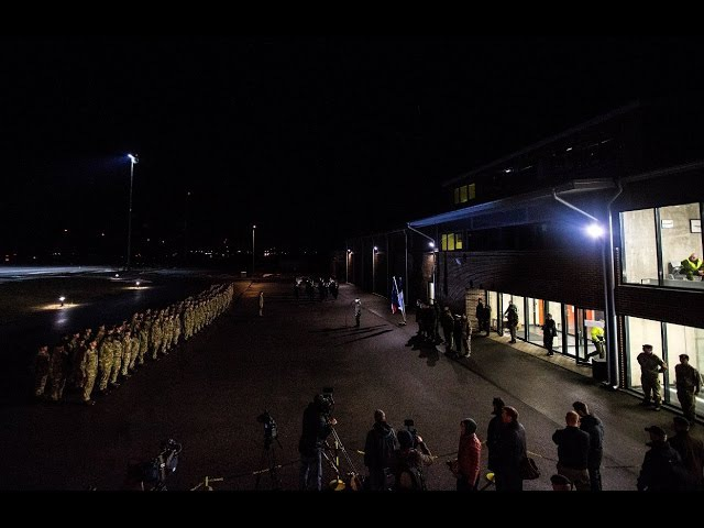 NATO lahingugrupi esimene suurem üksus maandus Eestis