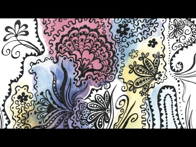 Speed Painting | Under the Sea | Monotype | Pen Ink, Watercolor | IOTN