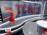 Лидия Таран в прямом эфире потеряла туфлю