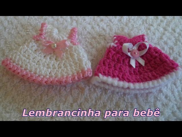 DiySouvenir - Lembrancinha em Crochê Nº 1 para bebê - Vestidinho - Graça Tristão