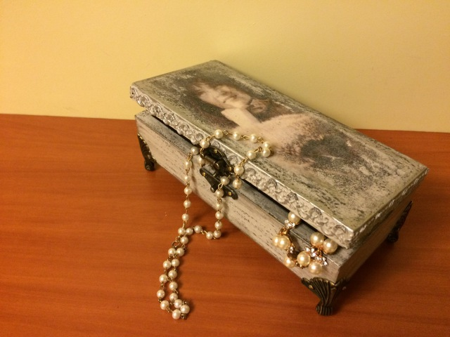 Шкатулка винтажная (2). Vintage jewelry box (2). Diy.