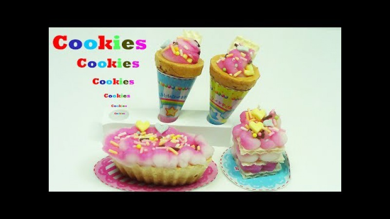 How to cook a cookie icecream doll egg surprise kinder disney mickey dog 장난감 인형 터닝메카드 뽀로로 콩순이 아이스크림