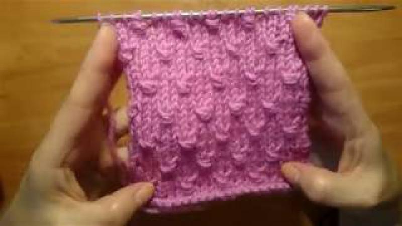 Вяжем спицами Простой интересный узор πλέξιμο μοτίβο για πάγων και πουλόβερ pattern spokes