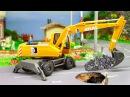 Der Bagger Erstellen Sie Straßen Cartoon für Kinder Animierter BAU Zeichentrick