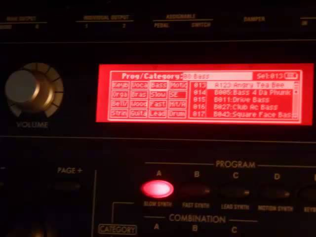 Korg microX Patches 6 of 6: Basses