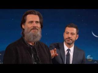 Джим Керри и его борода [Jimmy Kimmel]