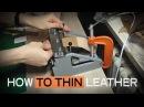 How to thin leather Как я истончаю/шерфую кожу для кукольной миниатюры