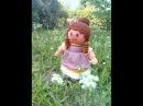 МК куколка Анабель спицами часть ІІ