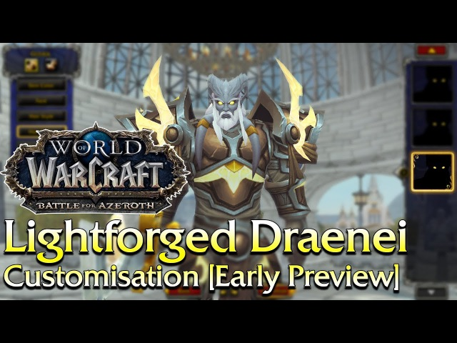 An Early Preview of the Lightforged Draenei Create Options | World of Warcraft
