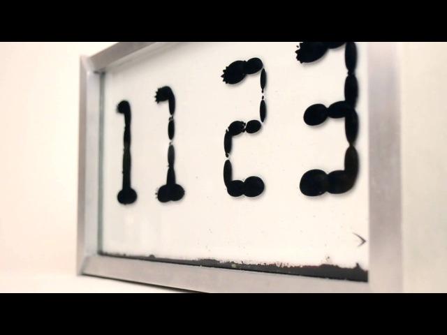 Ferrolic el reloj construido con ferrofluido