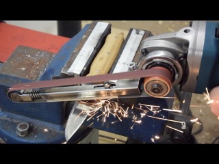 Making a Power File   Angle Grinder Hack   Grinder Attachment