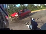 Авария при замедленной съемке ( вот зачем нужно включать поворотник)