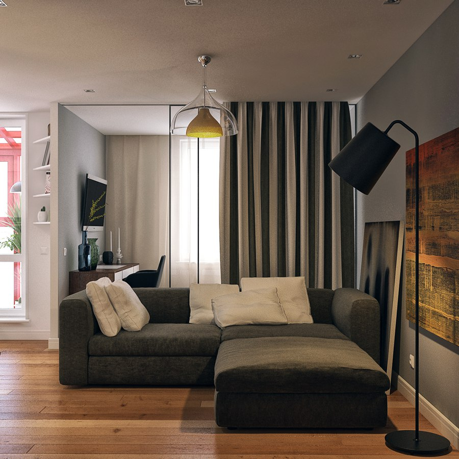Вариант 1 проекта квартиры 40 м.