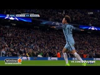 Манчестер Сити - Монако 5:3. Лерой Сане