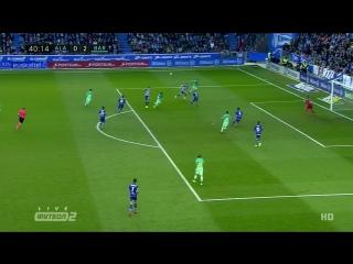 Алавес 0:2 Барселона | Гол Неймара