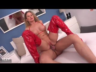 Izzy Mendosa 2017 г., anal, big tits, blowjob, cumshot, squirting, shaved, latex boots, blonde, 720p