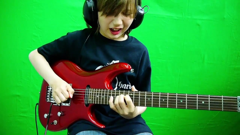 Dustin Tomsen 12 yr old - My next job as a studio guitarist at Vanderbergs new Song Bad Paradise