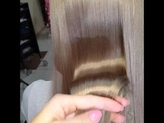 Выходим из обесцвеченного блонда в холодно-пепельный. Окрашивание Lanza наполнен ухаживающими компонентами и волосы светятся здо