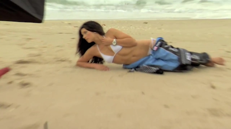 NASCAR Beauty Danica Patrick Takes It Off On Singer Island - On Set - Sports Illustrated Swimsuit
